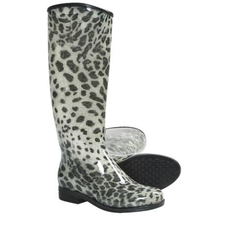 Dav English Snow Leopard Rain Boots - Waterproof (For Women)