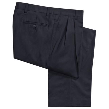Berle Wool Gabardine Pants - Pleats    (For Men)