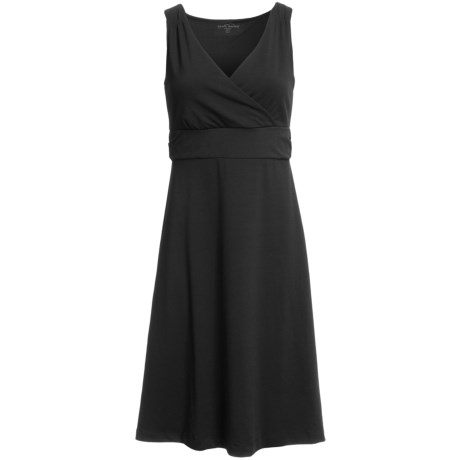 Specially made Knit Crossover V-Neck Dress - Sleeveless (For Women)