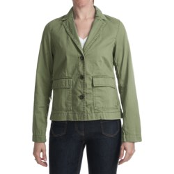 Washed Stretch Cotton Jacket (For Women)