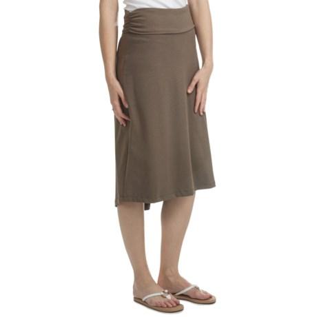 Fold-Over Waistband Hi-Low Knit Skirt - Convertible (For Women)
