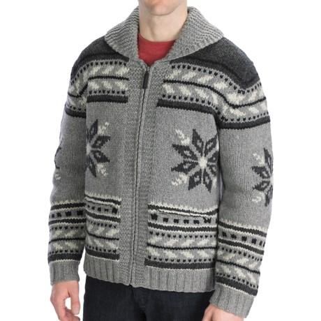 Neve Glockner Hand-Knit Cardigan Sweater - Lambswool (For Men)