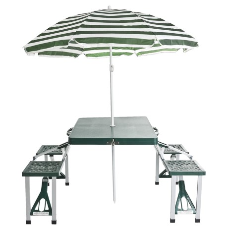 Texsport Folding Picnic Table with Umbrella