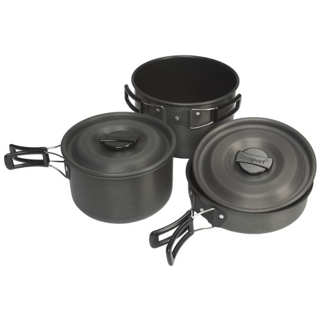 Texsport Hiker Black Ice Anodized Cook Set - 3-Piece