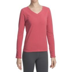 Stonewear Designs Shimmy Shirt - Organic Cotton, V-Neck, Long Sleeve (For Women)