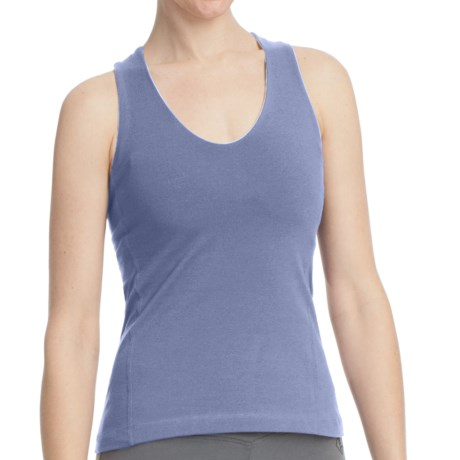 Stonewear Designs Momentum Tank Top - Organic Cotton, Built-in Shelf Bra, Crisscross Back (For Women)