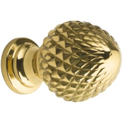 Valsan Brass Pineapple Finial Knob