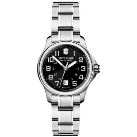 Victorinox Swiss Army Officers Mini Watch - Stainless Steel Bracelet (For Women)