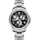 Victorinox Swiss Army Officers Chrono Watch - Stainless Steel Bracelet