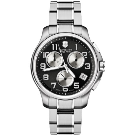 Victorinox Swiss Army Officers Chrono Watch - Stainless Steel Bracelet
