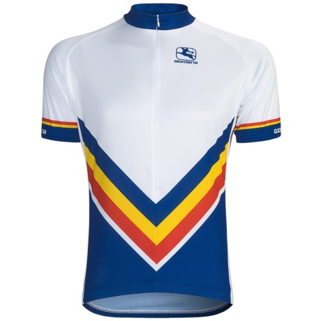 Giordana Retro Stripe Cycling Jersey - Short Sleeve (For Men)