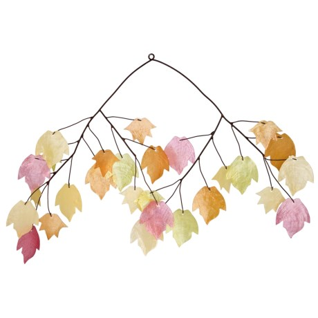 Woodstock Chimes Autumn Leaves Capiz Chime
