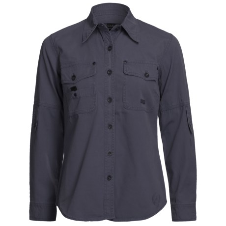 Kakadu Bronte 8 oz. Gunn-Worn Canvas Shirt - Long Sleeve (For Petite Women)