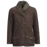 Kakadu Tasmanian Jacket - Quilted Oilskin Canvas, Insulated (For Petite Women)