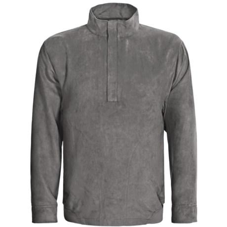Zero Restriction Classic Microsuede Windshirt - Zip Neck (For Men)