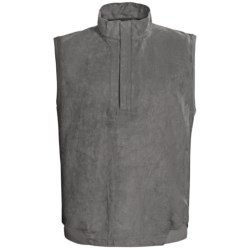 Zero Restriction Classic Microsuede Vest - Zip Neck (For Men)