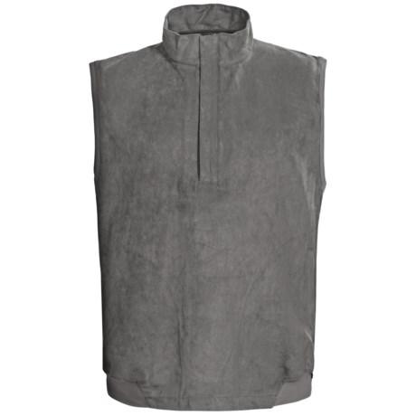 Zero Restriction Classic Microsuede Vest - Zip Neck (For Men)