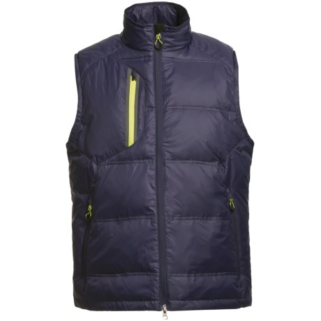 Zero Restriction White Goose Down Vest (For Men)