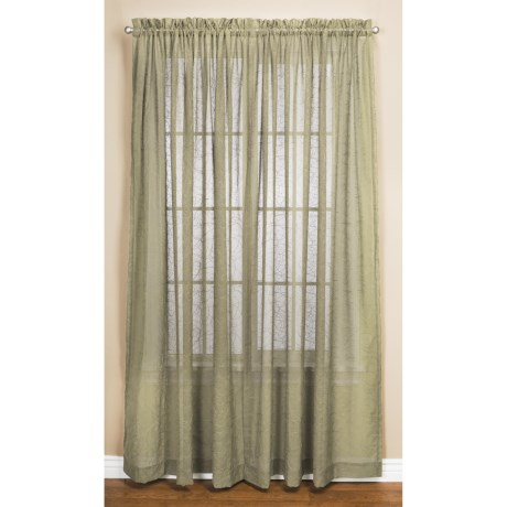 """Commonwealth Home Fashions Natures Way Embroidered Sheer Curtains - 108x84"""", Pole-Top"""