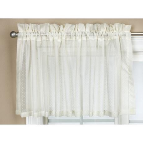 Commonwealth Home Fashions Audrey Dotted Swiss Valance - 54x17""