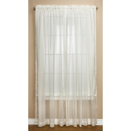 """Commonwealth Home Fashions Audrey Dotted Swiss Sheer Curtains - 108x84"""", Pole-Top"""