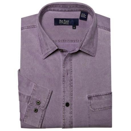 Nat Nast Havana Cloth Sport Shirt - Silk-Cotton, Long Sleeve (For Men)