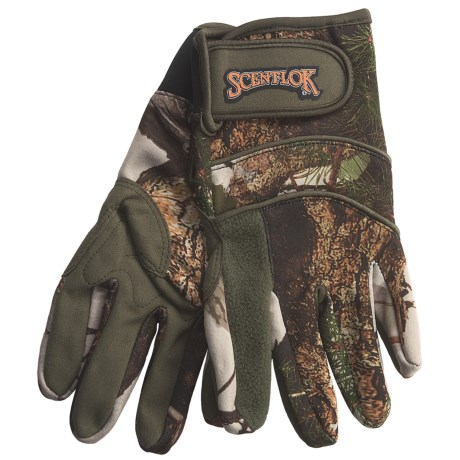 Scent-Lok® Midweight Carbon Alloy ClimaFleece Gloves (For Men)