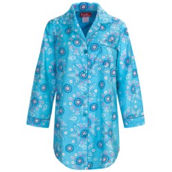 Frankie & Johnny Cotton Voile Sleepshirt - Long Sleeve (For Women)