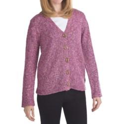 ALPS Songbird Tweed Cardigan Sweater (For Women)