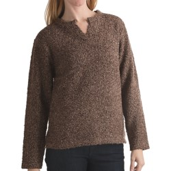 ALPS Emile Tweed Sweater - Notch Neck (For Women)