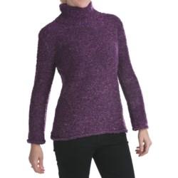 ALPS Annalise Tweed Turtleneck Sweater (For Women)