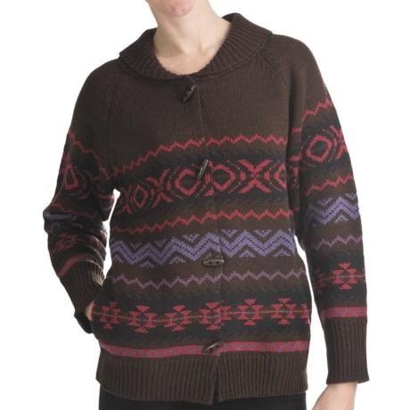 ALPS Split Rock Rib-Knit Cardigan Sweater - Button Front (For Women)