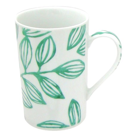 Lulu DK Leaf Porcelain Mugs - Set of 4