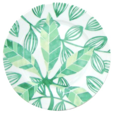 Lulu DK Leaf Porcelain Salad Plates - Set of 4