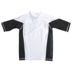Level Six Slater Rash Guard Shirt - UPF 50+, Short Sleeve (For Boys)