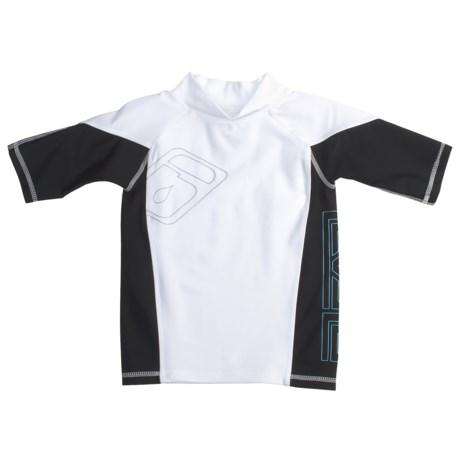 Level Six Slater Rash Guard Shirt - UPF 50+, Short Sleeve (For Boys)