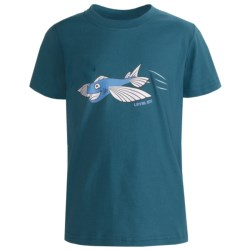 Level Six In Flight Fish T-Shirt - Organic Cotton, Short Sleeve (For Boys)