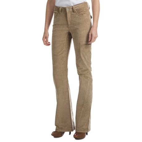 Sveltelana Stretch Corduroy Pants - Flared Leg (For Women)