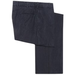 Corbin Prince of Wales Cotton Pants - Flat Front (For Men)