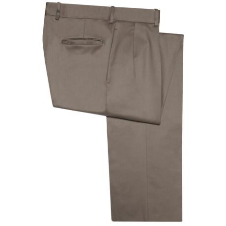 Corbin Premier Wool Gabardine Pants - Pleated (For Men)