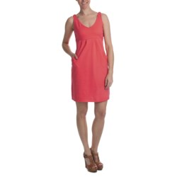 Cotton Knit Dress - Pleated Empire Waist, Sleeveless (For Women)