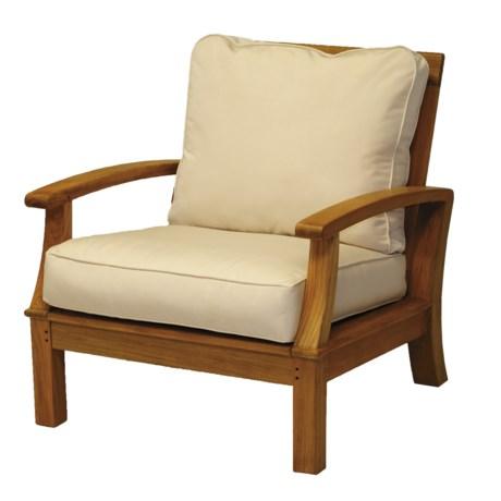 Three Birds Casual Monterey Deep Seating Teak Arm Chair
