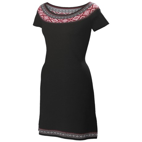 Neve Ella Boat Neck Dress - Ultrafine Merino Wool, Short Sleeve (For Women)