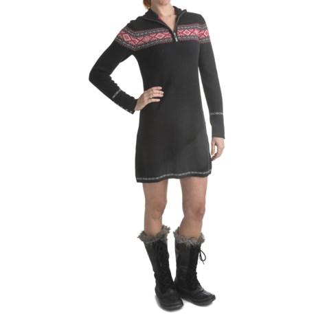 Neve Camilla Zip Neck Dress - Merino Wool, Long Sleeve (For Women)