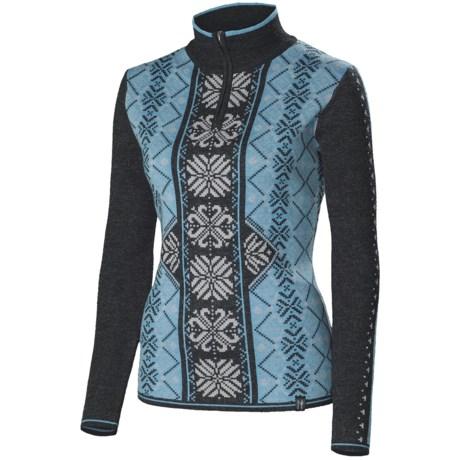 Neve Isabella Sweater - Merino Wool, Zip Neck (For Women)
