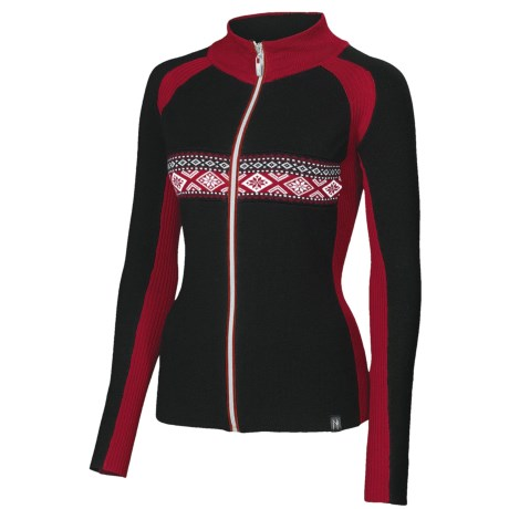 Neve Claire Zip Sweater - Merino Wool, Long Sleeve (For Women)