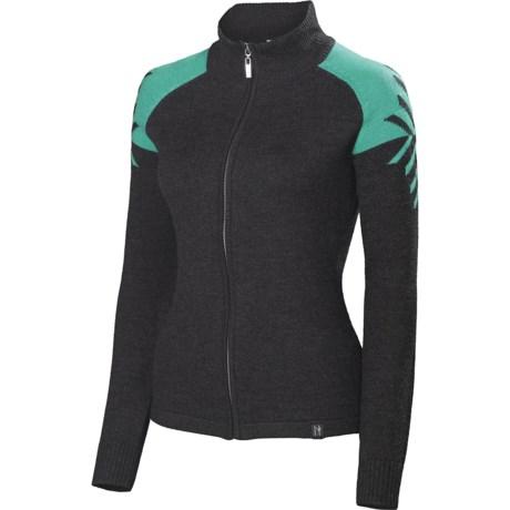Neve Leah Sweater - Merino Wool, Full Zip (For Women)