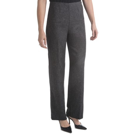 Stretch Tweed Pants - Side Zip (For Women)