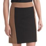 Atelier Luxe Color-Block Pencil Skirt - Ponte Knit (For Women)