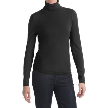 August Silk Turtleneck Sweater (For Women)